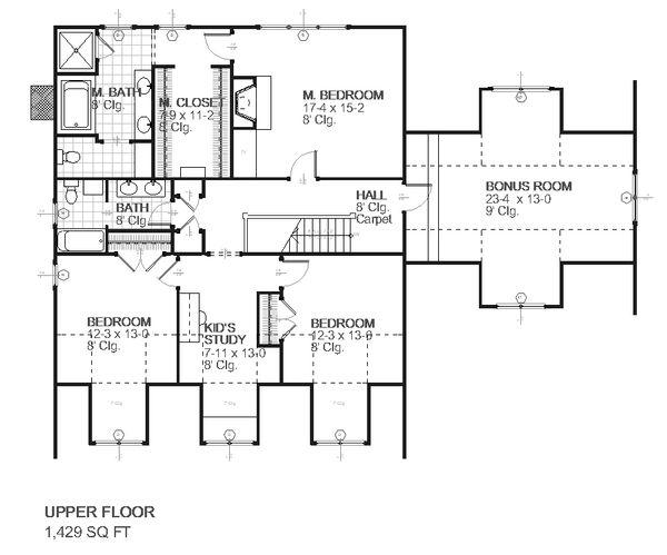 Farmhouse Floor Plan - Upper Floor Plan Plan #901-5