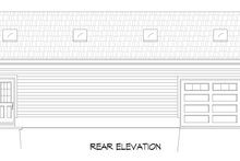 Country Exterior - Rear Elevation Plan #932-165