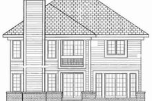 House Blueprint - Traditional Exterior - Rear Elevation Plan #72-342