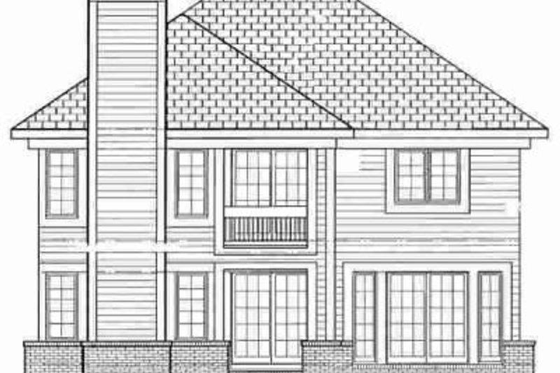 Traditional Exterior - Rear Elevation Plan #72-342 - Houseplans.com