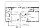 Traditional Style House Plan - 4 Beds 2.5 Baths 2482 Sq/Ft Plan #17-1179 Floor Plan - Main Floor