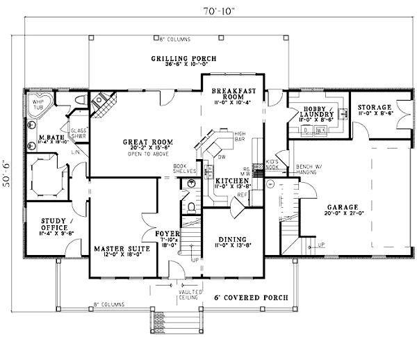 Traditional Floor Plan - Main Floor Plan #17-1179