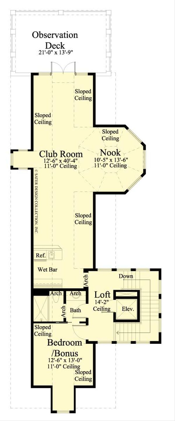 Southern Floor Plan - Other Floor Plan Plan #930-407