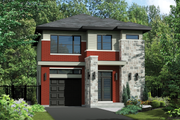 Contemporary Style House Plan - 3 Beds 1 Baths 1823 Sq/Ft Plan #25-4320 Exterior - Front Elevation