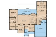 Craftsman Style House Plan - 4 Beds 2.5 Baths 2119 Sq/Ft Plan #923-24 Floor Plan - Main Floor