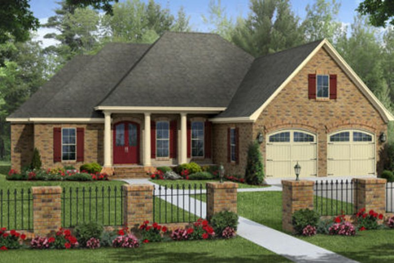 Traditional Exterior - Front Elevation Plan #21-316 - Houseplans.com
