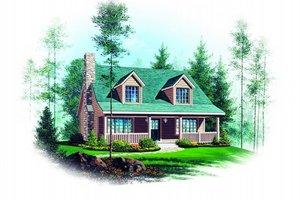 Cottage Exterior - Front Elevation Plan #22-218