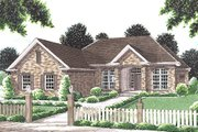 Traditional Style House Plan - 3 Beds 2 Baths 1980 Sq/Ft Plan #20-115 Exterior - Front Elevation