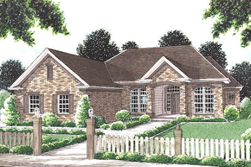 Traditional Exterior - Front Elevation Plan #20-115
