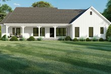 Dream House Plan - Farmhouse Exterior - Rear Elevation Plan #923-157