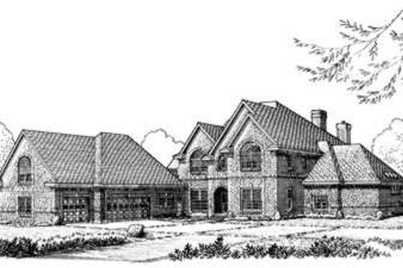 European Exterior - Front Elevation Plan #410-398