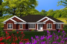 Dream House Plan - Ranch Exterior - Front Elevation Plan #70-1165