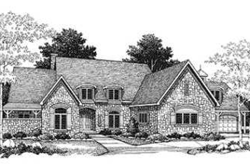European Exterior - Front Elevation Plan #70-544