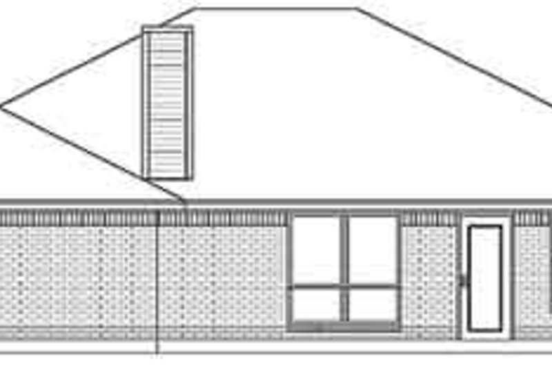 Traditional Exterior - Rear Elevation Plan #84-206 - Houseplans.com