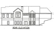Traditional Style House Plan - 4 Beds 4 Baths 2330 Sq/Ft Plan #405-217 Exterior - Rear Elevation
