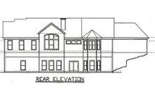 House Plan Design - Traditional Exterior - Rear Elevation Plan #405-217
