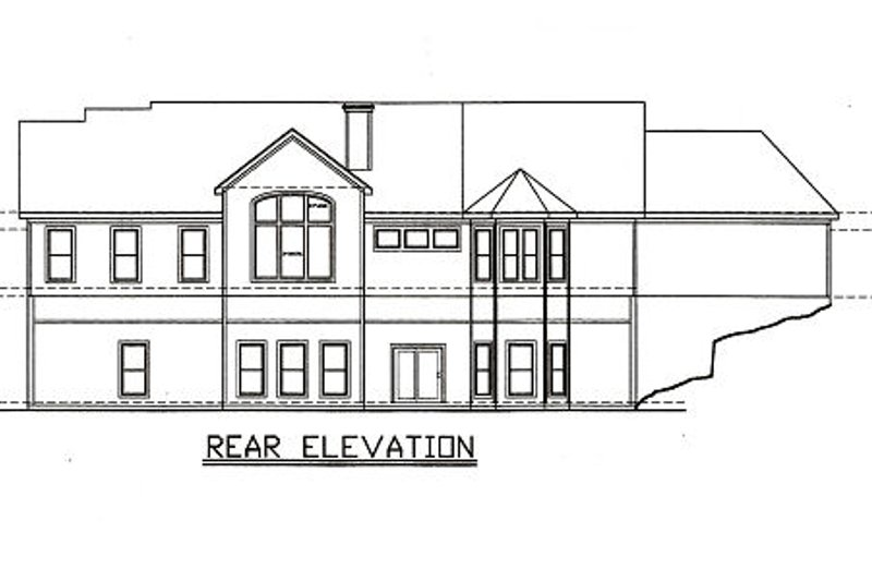 Traditional Exterior - Rear Elevation Plan #405-217 - Houseplans.com