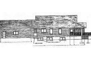 Traditional Style House Plan - 3 Beds 2 Baths 1844 Sq/Ft Plan #409-1116 Exterior - Rear Elevation