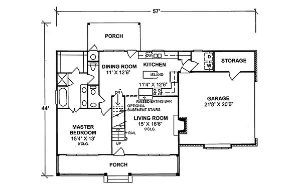Traditional house plan style, floor plan