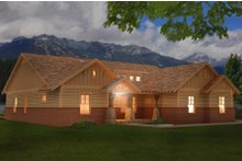 Architectural House Design - Craftsman Exterior - Front Elevation Plan #932-4
