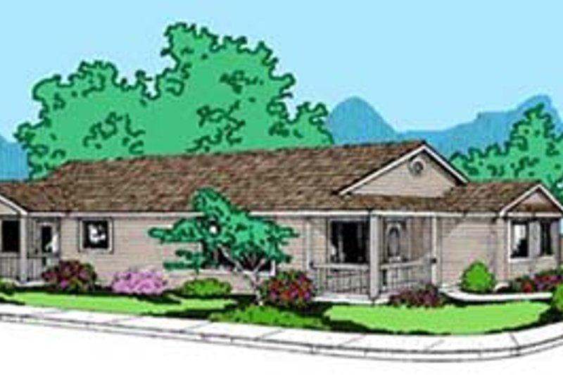 Ranch Exterior - Front Elevation Plan #60-578 - Houseplans.com