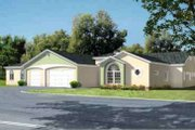 House Plan - 3 Beds 2.5 Baths 3492 Sq/Ft Plan #1-838 Exterior - Front Elevation
