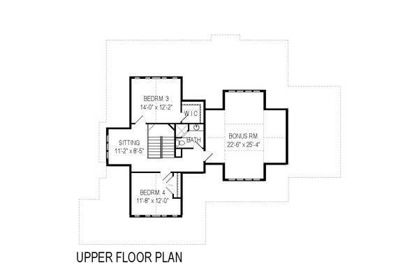 Craftsman Floor Plan - Upper Floor Plan Plan #920-5