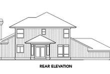 Prairie Exterior - Rear Elevation Plan #48-324