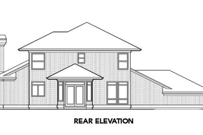 Prairie Exterior - Rear Elevation Plan #48-324 - Houseplans.com