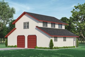 Architectural House Design - Country Exterior - Front Elevation Plan #124-1241