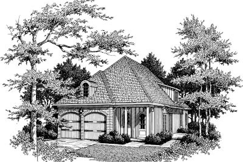 European Exterior - Front Elevation Plan #37-152