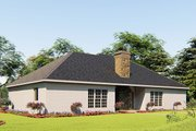 Craftsman Style House Plan - 4 Beds 3 Baths 1989 Sq/Ft Plan #923-156 Exterior - Rear Elevation