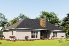 Craftsman Exterior - Rear Elevation Plan #923-156