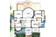 Mediterranean Style House Plan - 5 Beds 6.5 Baths 7123 Sq/Ft Plan #27-275 Floor Plan - Upper Floor Plan
