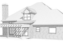 European Exterior - Rear Elevation Plan #63-347