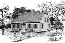 House Blueprint - Colonial Exterior - Front Elevation Plan #72-381