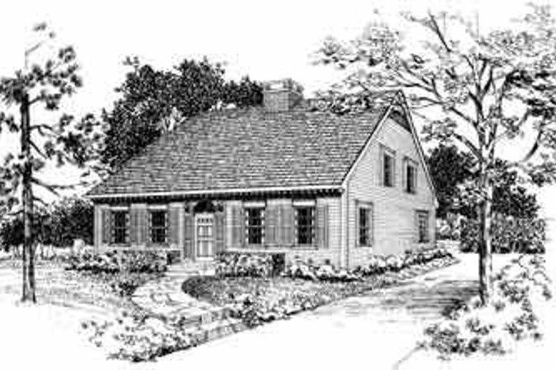 Colonial Exterior - Front Elevation Plan #72-381
