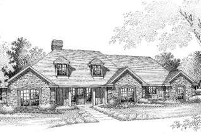 House Plan Design - Traditional Exterior - Front Elevation Plan #310-220