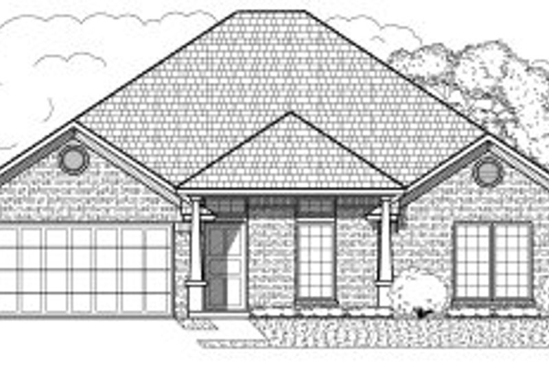 European Style House Plan - 4 Beds 2 Baths 1854 Sq/Ft Plan #65-374 Exterior - Front Elevation