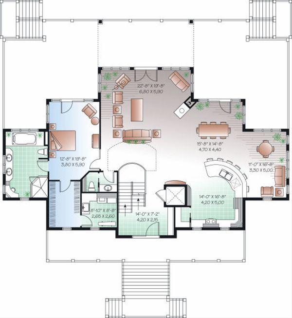 Beach Floor Plan - Main Floor Plan Plan #23-854