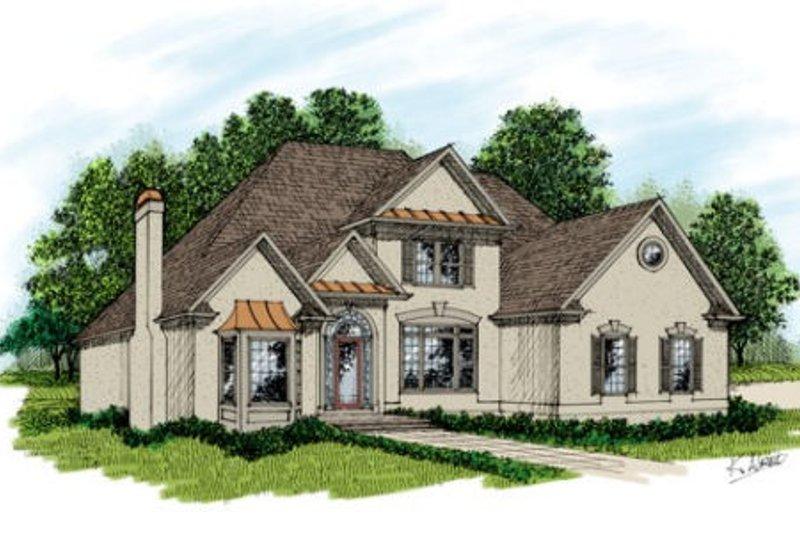 Dream House Plan - European Exterior - Front Elevation Plan #56-224