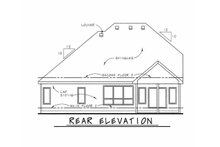 Architectural House Design - Craftsman Exterior - Rear Elevation Plan #20-2243