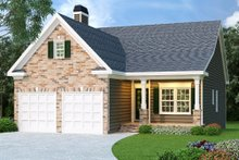 Dream House Plan - Farmhouse Exterior - Front Elevation Plan #419-107