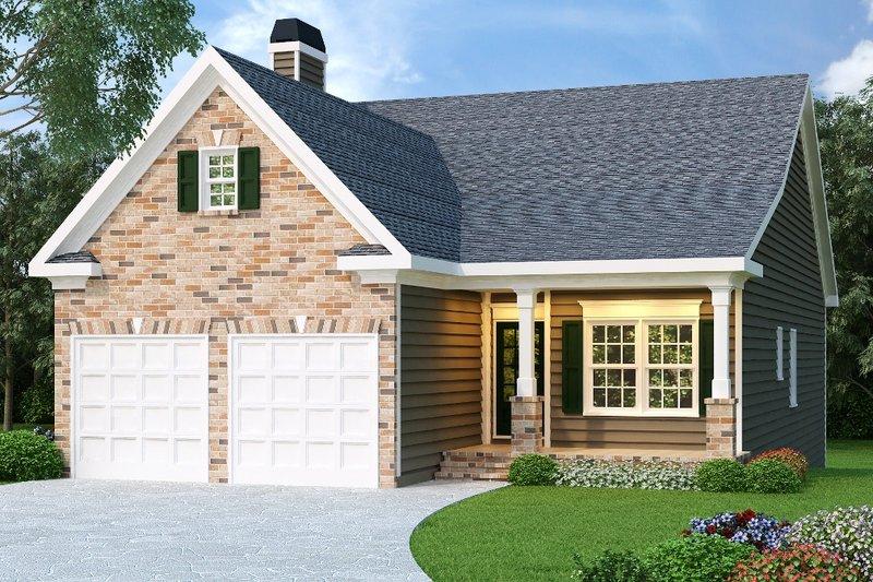 Farmhouse Exterior - Front Elevation Plan #419-107 - Houseplans.com