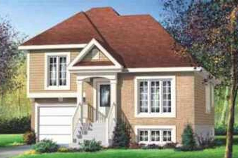 Traditional Style House Plan - 2 Beds 2 Baths 1130 Sq/Ft Plan #25-315 Exterior - Front Elevation