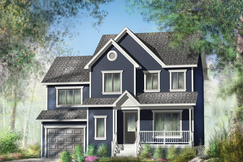 Contemporary Exterior - Front Elevation Plan #25-4297