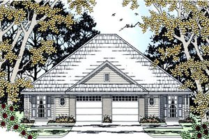 House Design - Country Exterior - Front Elevation Plan #42-377