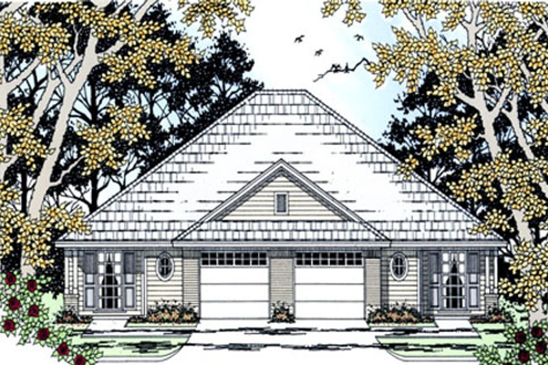 Country Exterior - Front Elevation Plan #42-377