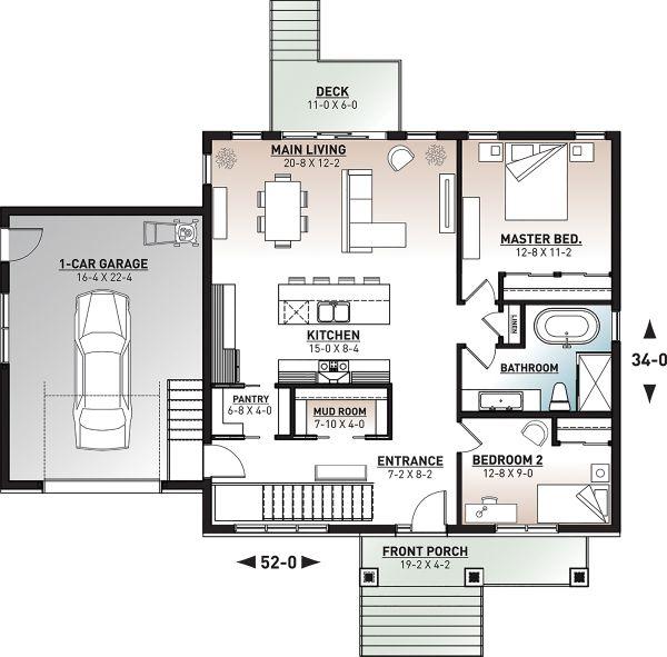 Craftsman Floor Plan - Main Floor Plan #23-2728