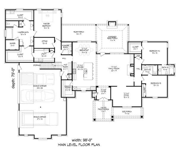 Dream House Plan - Country Floor Plan - Main Floor Plan #932-294